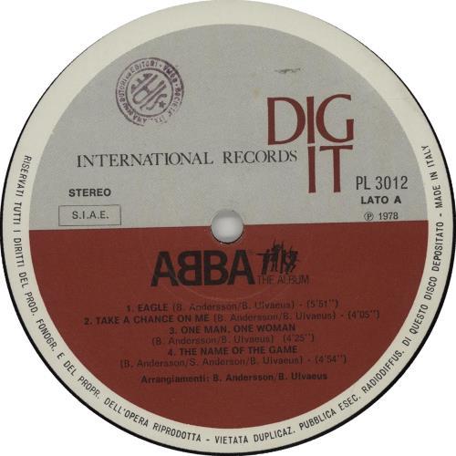 Abba ABBA The Album vinyl LP album (LP record) Italian ABBLPAB658242