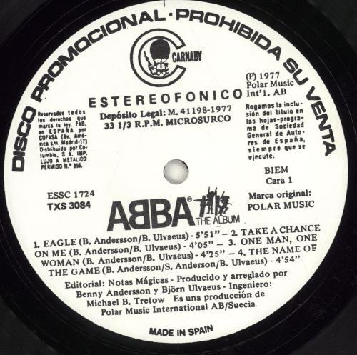 Abba Abba The Album vinyl LP album (LP record) Spanish ABBLPAB697607