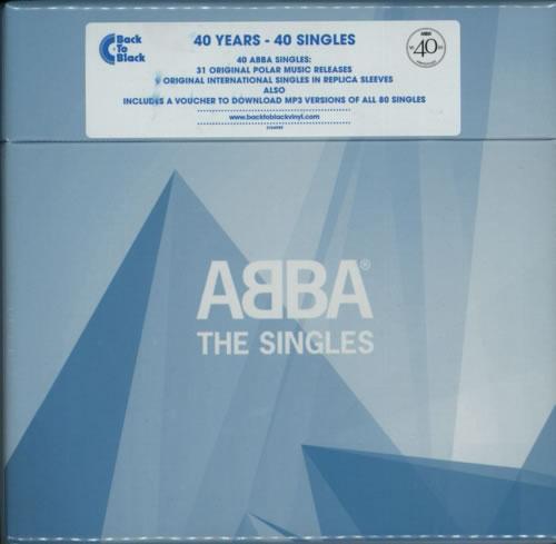 "Abba Abba: The Singles - 40th Anniversary Box Set - Sealed 7"" box set UK ABB7XAB603457"