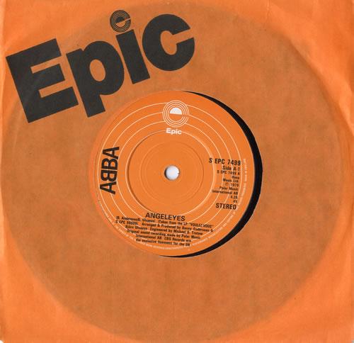 "Abba Angeleyes 7"" vinyl single (7 inch record) UK ABB07AN565690"
