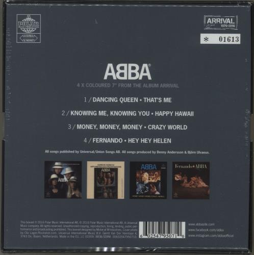 Abba Arrival The Singles Coloured Vinyl Sealed Uk 7