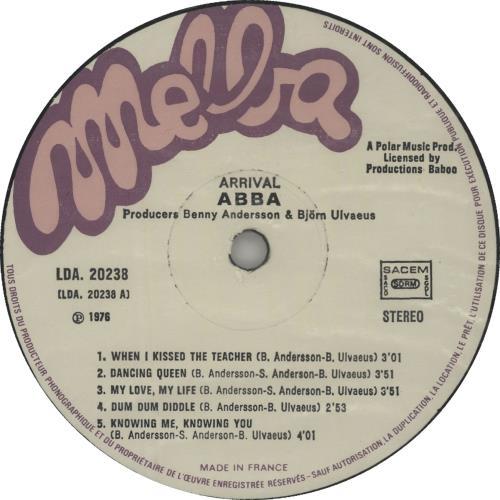 Abba Arrival vinyl LP album (LP record) French ABBLPAR653283