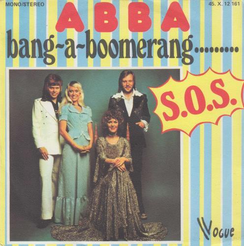 "Abba Bang-A-Boomerang 7"" vinyl single (7 inch record) French ABB07BA48246"