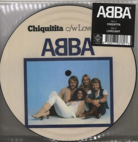 """Abba Chiquitita / Lovelight 7"""" vinyl picture disc 7 inch picture disc single UK ABB7PCH745656"""