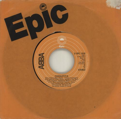 "Abba Chiquitita - Jukebox 7"" vinyl single (7 inch record) UK ABB07CH684736"