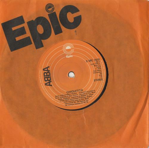 "Abba Chiquitita - Solid 7"" vinyl single (7 inch record) UK ABB07CH319738"