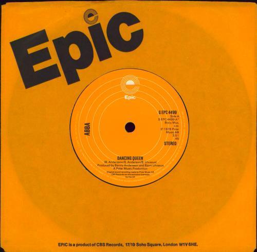 "Abba Dancing Queen - 2nd - Solid 7"" vinyl single (7 inch record) UK ABB07DA414320"