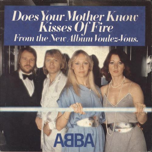"Abba Does Your Mother Know 7"" vinyl single (7 inch record) Italian ABB07DO56451"