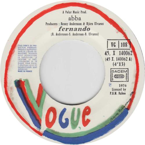 "Abba Fernando - Baboo issue 7"" vinyl single (7 inch record) French ABB07FE569847"