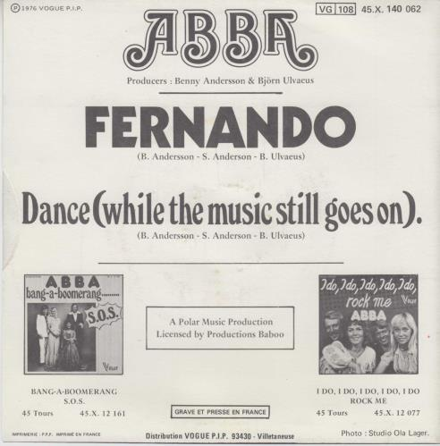 "Abba Fernando - Baboo issue 7"" vinyl single (7 inch record) French ABB07FE569847"