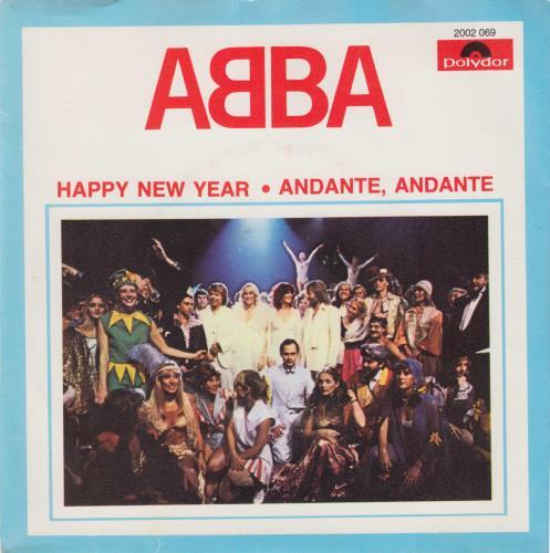 """Abba Happy New Year 7"""" vinyl single (7 inch record) Portugese ABB07HA324504"""