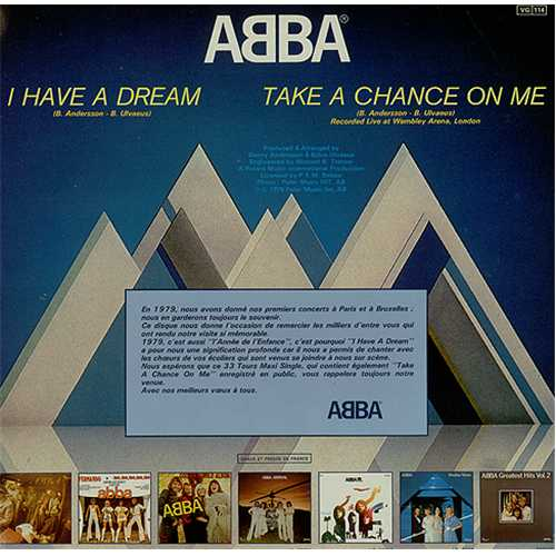"Abba I Have A Dream 12"" vinyl single (12 inch record / Maxi-single) French ABB12IH09990"
