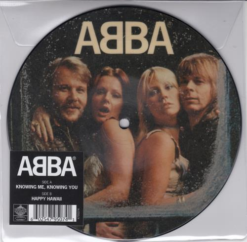 """Abba Knowing Me, Knowing You 7"""" vinyl picture disc 7 inch picture disc single UK ABB7PKN659701"""