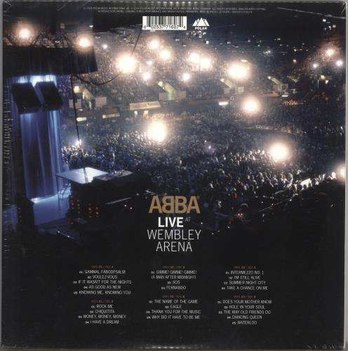 Abba Live At Wembley Arena - 180gm - Sealed 3-LP vinyl record set (Triple Album) UK ABB3LLI612784