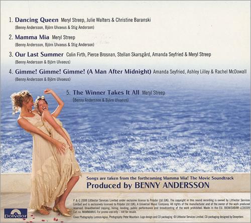 "Abba Mamma Mia! - Sampler CD single (CD5 / 5"") UK ABBC5MA452737"