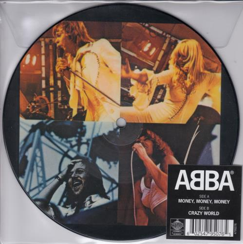 "Abba Money, Money, Money 7"" vinyl picture disc 7 inch picture disc single UK ABB7PMO659700"