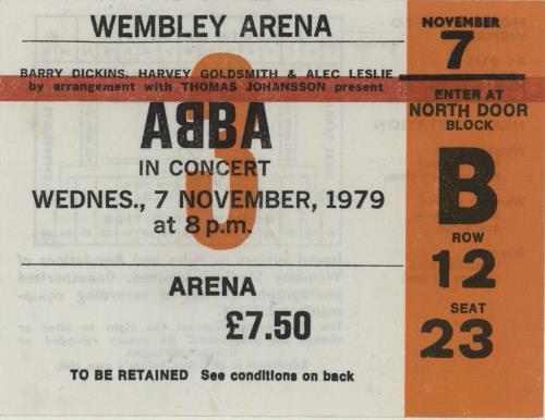 Abba North American & European Tour 1979 + Ticket stub tour programme UK ABBTRNO568578