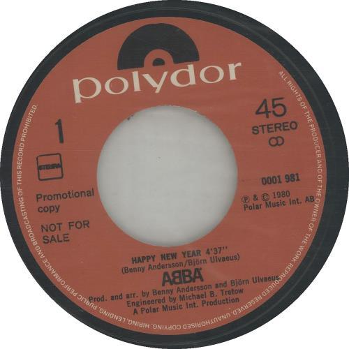 """Abba Polydor Wenst U... Happy New Year 7"""" vinyl single (7 inch record) Dutch ABB07PO36952"""