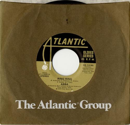 """Abba Ring Ring / SOS 7"""" vinyl single (7 inch record) US ABB07RI324507"""