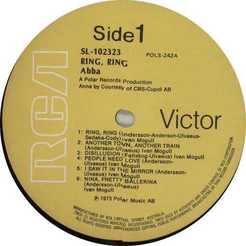 Abba Ring Ring vinyl LP album (LP record) Australian ABBLPRI17964