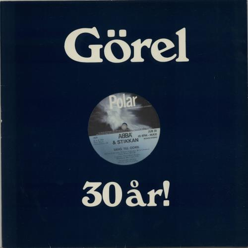 "Abba Sang Till Gorel - Blue Vinyl 12"" vinyl single (12 inch record / Maxi-single) Swedish ABB12SA654249"