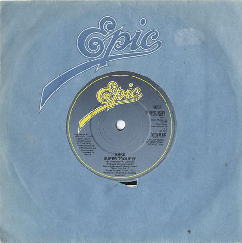 """Abba Super Trooper - Solid 7"""" vinyl single (7 inch record) UK ABB07SU594558"""