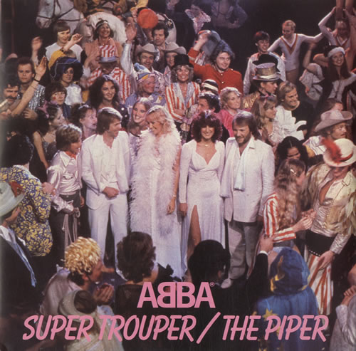 "Abba Super Trouper - P/S - Inj 7"" vinyl single (7 inch record) UK ABB07SU31805"