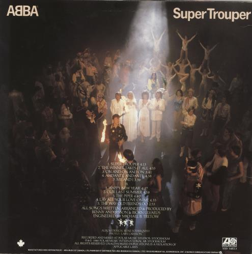 Abba Super Trouper vinyl LP album (LP record) Canadian ABBLPSU330391