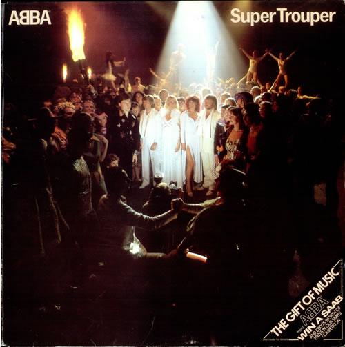Abba Super Trouper Saab Sleeve Uk Vinyl Lp Album Lp