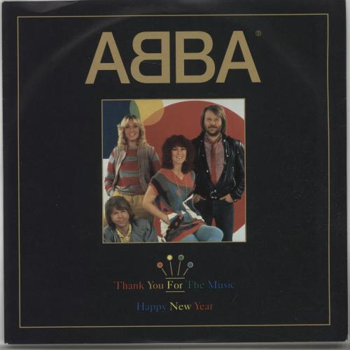 "Abba Thank You For The Music 7"" vinyl single (7 inch record) UK ABB07TH56450"