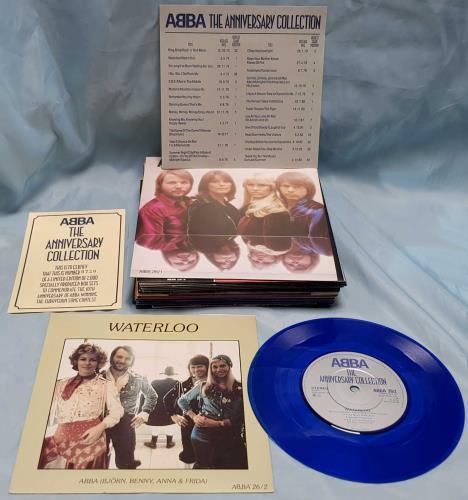 """Abba The Anniversary Collection - Blue - Complete - EX 7"""" box set UK ABB7XTH227694"""