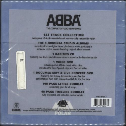 Abba The Complete Studio Recordings - Sealed CD Album Box Set UK ABBDXTH340059