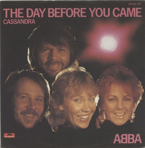 """Abba The Day Before You Came 7"""" vinyl single (7 inch record) German ABB07TH695486"""