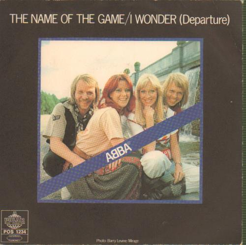 """Abba The Name Of The Game - Jukebox label 7"""" vinyl single (7 inch record) Swedish ABB07TH658188"""