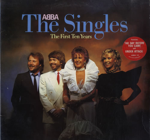 Abba The Singles - The First Ten Years + Sticker - EX 2-LP vinyl record set (Double Album) UK ABB2LTH565016