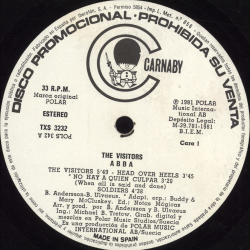 Abba The Visitors vinyl LP album (LP record) Spanish ABBLPTH697608