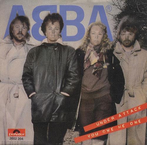 """Abba Under Attack 7"""" vinyl single (7 inch record) Dutch ABB07UN155937"""