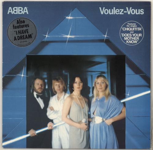 Abba Voulez-Vous - Stickered sleeve vinyl LP album (LP record) UK ABBLPVO727761
