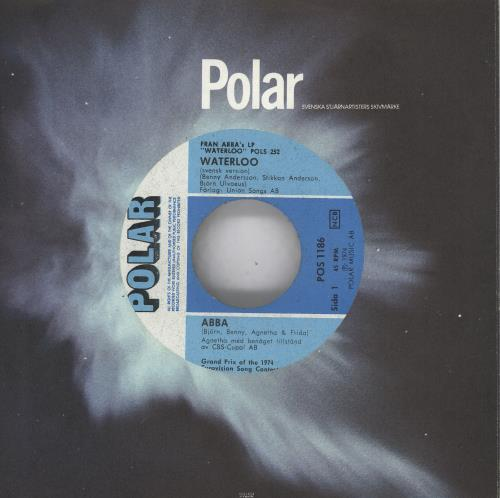 "Abba Waterloo - Svensk Version 7"" vinyl single (7 inch record) Swedish ABB07WA12412"