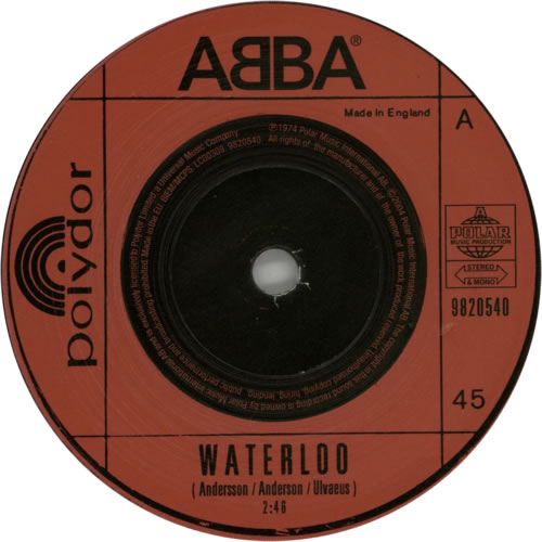 Abba Waterloo Uk 7 Quot Vinyl Single 7 Inch Record 284839