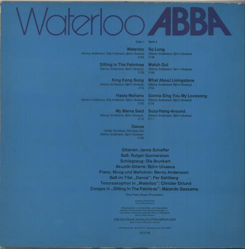 Abba Waterloo vinyl LP album (LP record) German ABBLPWA92103
