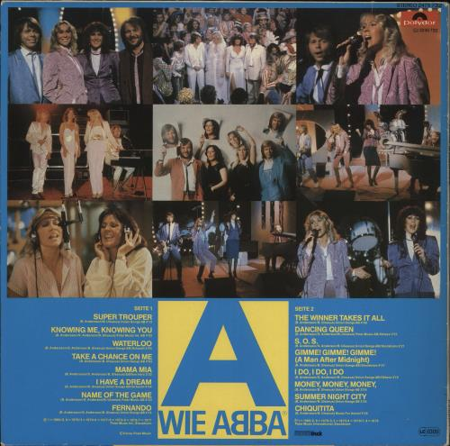 Abba Wie Abba vinyl LP album (LP record) Austrian ABBLPWI772816