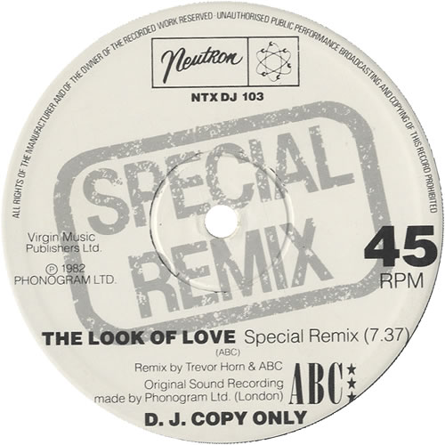 "ABC The Look Of Love 12"" vinyl single (12 inch record / Maxi-single) UK ABC12TH43218"
