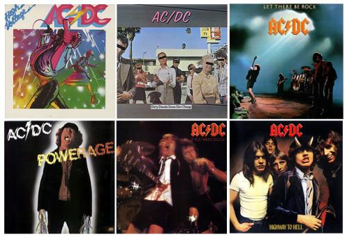 AC/DC 1976-1988 Studio Albums UK vinyl LP album (LP record