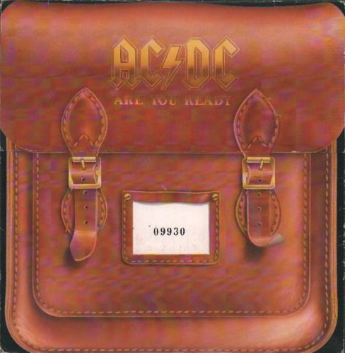 "AC/DC Are You Ready - Satchel Sleeve 7"" vinyl single (7 inch record) UK ACD07AR00803"