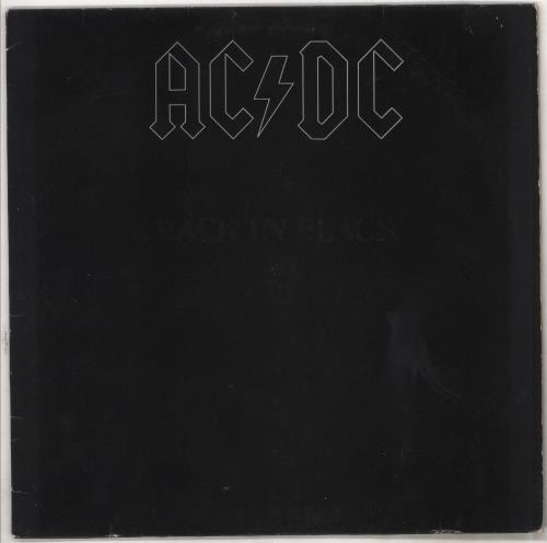AC/DC Back In Black - EX vinyl LP album (LP record) German ACDLPBA728015