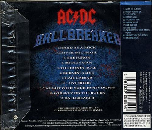 Ac Dc Ballbreaker Japanese Cd Album Cdlp 358635