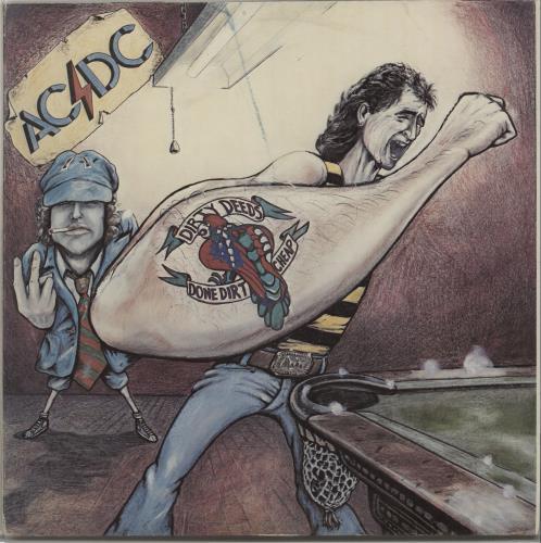 AC/DC Dirty Deeds Done Cheap vinyl LP album (LP record) New Zealand ACDLPDI666988