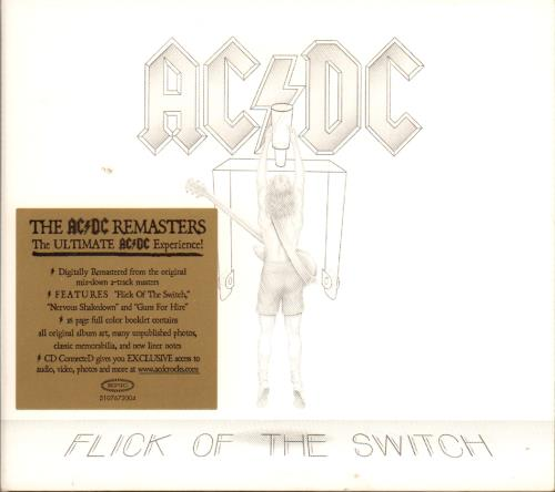 AC/DC Flick Of The Switch CD album (CDLP) UK ACDCDFL652176