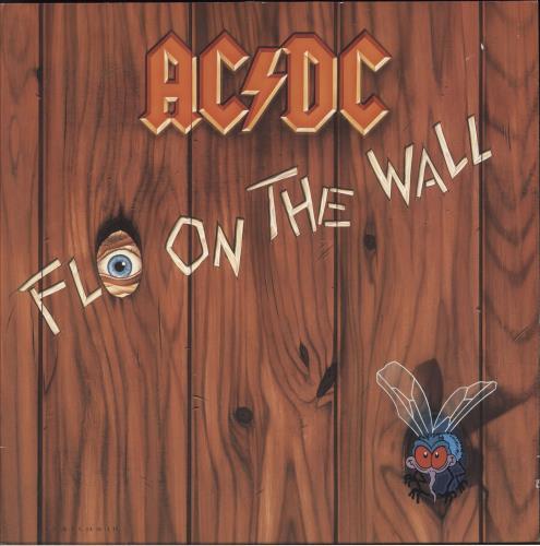 AC/DC Fly On The Wall + Inner vinyl LP album (LP record) German ACDLPFL229017
